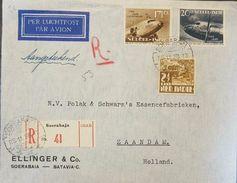 L) 1938 NEDERLANDS, 10 YEAR AVIATION, AIRPLANE, CIRCULATED COVER IN HOLLAD, MULTIPLE STAMPS, AIR MAIL, XF - Niederländisch-Indien