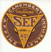 Etiquette De Fromage Camembert SEF Loches - Fromage