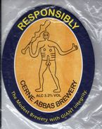 NEW UNUSED - CERNE ABBAS BREWERY (CERNE ABBYS, ENGLAND) - RESPONSIBILITY - PUMP CLIP FRONT - Signs