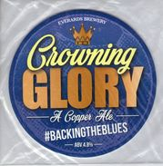 NEW UNUSED - EVERARDS BREWERY (NARBOROUGH, ENGLAND) - CROWNING GLORY COPPER ALE - PUMP CLIP FRONT - Signs