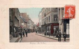 CPA, Guingamp, Rue St Yves Animée, Colorisée - Guingamp