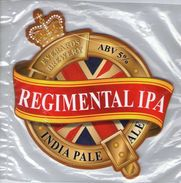 NEW UNUSED - EVERARDS BREWERY (NARBOROUGH, ENGLAND) - REGIMENTAL IPA - PUMP CLIP FRONT - Signs