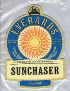 NEW UNUSED - EVERARDS BREWERY (NARBOROUGH, ENGLAND) - SUNCHASER BLONDE - PUMP CLIP FRONT - Signs