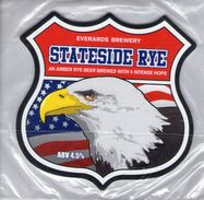 NEW UNUSED - EVERARDS BREWERY (NARBOROUGH, ENGLAND) - STATESIDE RYE - PUMP CLIP FRONT - Signs