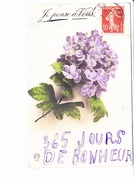 JE PENSE A VOUS, 365 JOURS DE BONHEUR Bouquet De Violettes, Ed. Omega 1909? - Nouvel An