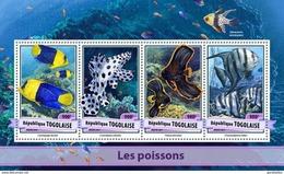 TOGO 2017 SHEET FISHES POISSONS PEIXES PECES MARINE LIFE Tg17106a - Togo (1960-...)