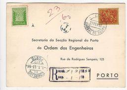 Portugal * À ... Ordem Dos Engenheiros * Cardal Do Douro * 1963 * Registered * Porteado - 1910-... République