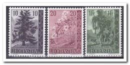 Liechtenstein 1957, Postfris MNH, Flowers, Trees - Liechtenstein