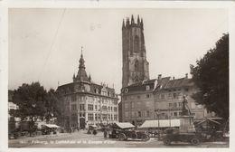 Fribourg - La Cathédrale Et La Banque D'Etat - FR Fribourg