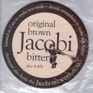 NEW UNUSED - JACOBI BREWERY (CAIO, WALES) - ORIGINAL BROWN BITTER - PUMP CLIP FRONT - Signs