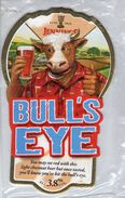 NEW UNUSED - JENNINGS BREWERY (COCKERMOUTH, ENGLAND) - BULL'S EYE - PUMP CLIP FRONT - Signs