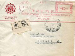 28333 Italia,  Red Meter/freistempel/ema/ Roma  1955 F.a.t.m.e. Fabbrica Apparecchi Telefonici - Affrancature Meccaniche Rosse (EMA)