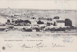 FRANCE 1902 CARTE POSTALE DES SABLES  D'OLONNE  VUE GENERALE DE LA PLAGE - Sables D'Olonne