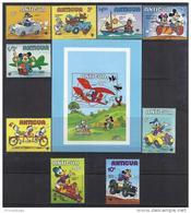DISNEY - ANTIGUA&BARBUDA 1980-  Yvert# 563/71 H47 Precio Cat€17.50 - Disney