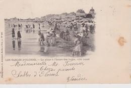 FRANCE 1902 CARTE POSTALE DES SABLES  D'OLONNE  LA PLAGE A L'HEURE DES BAINS COTE OUEST - Sables D'Olonne