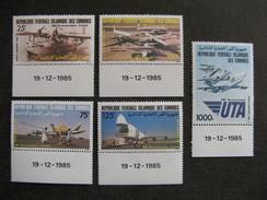 Comores: TB Série PA N° 219 Au N°223, Neufs XX. - Comores (1975-...)