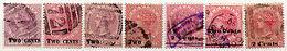 (I.B) Ceylon Postal : 2d Overprints Collection - Ceylon (...-1947)