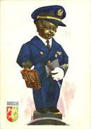 Bruxelles (Belgio) Manneken-Pis, Commandant De Bord, Head Pilot, Boords Kommandant, Cartolina Umoristica - Famous People