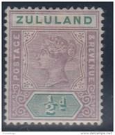 GRAN BRETAÑA/ZULULAND 1894/96 - Yvert#14 Sin Goma (*) - Zululand (1888-1902)