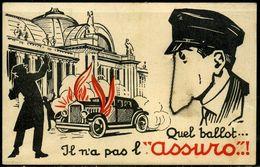 """Cpa  Pub Illustrée Extincteur  Assuro  """"quel Ballot ...."""" - Pubblicitari"""