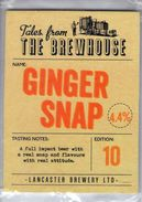 NEW UNUSED - LANCASTER BREWERY (LANCASTER, ENGLAND) - GINGER SNAP - PUMP CLIP FRONT - Signs