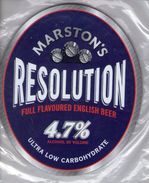 NEW UNUSED - MARSTON'S BREWERY (BURTON UPON TRENT, ENGLAND) - RESOLUTION - PUMP CLIP FRONT - Signs