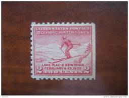 USA 1932 MNH Imperf Right - Winter 1932: Lake Placid