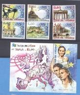 2007 Vaticano -  Trattati Di Roma 1957- 2007  -  6 Val.  MNH°° - Vaticano