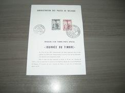 BELG.1957 1011 DOCUMENT PHILATELIQUE FR. OFFICIELS DE LA POSTE,émission De Timbres - FDC