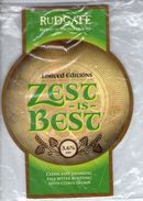 NEW UNUSED - RUDGATE BREWERY (YORK, ENGLAND) - ZEST IS BEST - PUMP CLIP FRONT - Signs