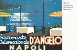 RISTORANTE INTERNAZIONALE D'ANGELO. NAPOLI, ITALY/L'ITALIE. ILLUSTRATION. CIRCA 1960's TBE - BLEUP - Hotel's & Restaurants
