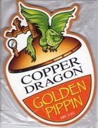 NEW UNUSED - SKIPTON BREWERY (SKIPTON, ENGLAND) - COPPER DRAGON GOLDEN PIPPIN - PUMP CLIP FRONT - Signs