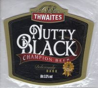 NEW UNUSED - THWAITES BREWERY (BLACKBURN, ENGLAND) - NUTTY BLACK CHAMPION BEER - PUMP CLIP FRONT - Signs