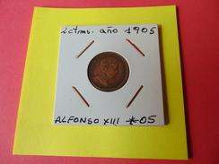 2 Centimos Alfonsox||| Año 1905*05 - España