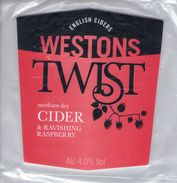NEW UNUSED - WESTONS CIDER (MUCH MARCLE, ENGLAND) - TWIST MEDIUM DRY - PUMP CLIP FRONT - Signs
