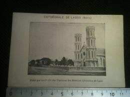 Image Mission Africaine - Cathédrale De Lagos, Préfecture Apostolique Bénin, Tapiocas Des Missions De Lyon - Imágenes Religiosas