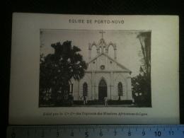 Image Mission Africaine - Eglise De Porto-Novo, Mission De Porto Novo, Tapiocas Des Missions De Lyon - Images Religieuses