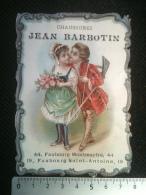 Chromo - Enfants Amoureux, Chaussures Jean Barbotin Faubourg Montmartre Et Faubourg Saint-Antoine, Gaufrée - Autres
