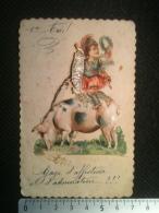 Découpi Contrecollé - Angelot En Armure Antique Romaine à Dos De Cochon, 1er Avril - Angels