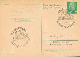 26402. Entero Postal WEISSENSEE (Alemania DDR) 1967. Runneburg. 10 Jahre Philatelie - [6] República Democrática