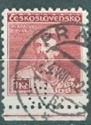"Tschechoslowakei 1932 Mi. 315 UR Gelocht ""P"" Gest. Tyra Sokol TGST Prag 1932 - Tchécoslovaquie"