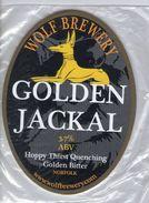 NEW UNUSED - WOLF BREWERY (ATTLEBOROUGH, ENGLAND) - GOLDEN JACKAL GOLDEN BITTER - PUMP CLIP FRONT - Signs
