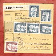 Paketkartenteil, MiF Heinemann, Klausheide Nach Langenhagen 1974 (43394) - BRD