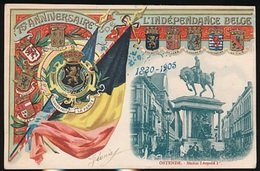 OOSTENDE = STATUE LEOPOLD I - 75e ANNIVERSAIRE DE L'INDEPENDANCE BELGE 1830 - 1905 - Oostende