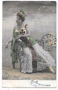 Melle DORGERE  Artiste Des Années 1900  -  Un Trèfle Sur Sa Robe -  Carte Voyagé En 1905 - Editeur ALTEROCCA TERNI 5783 - Artistes