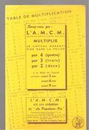 Buvard A.M.C.M. Assurance Mixte à Capital Multiplié Table De Multiplication - Bank & Insurance