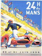 24 Heures Du Mans 1959  -  Plaque Métal 20 X 15 Cms  -  Neuf! - Advertising (Porcelain) Signs