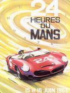 24 Heures Du Mans 1963  -  Ferrari  -  Plaque Métal 20 X 15 Cms  -  Neuf! - Advertising (Porcelain) Signs
