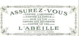 Buvard L'ABEILLE ASSUREZ-VOUS 57, Rue Taibout PARIS - Bank & Insurance