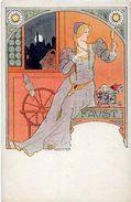 CPA Louis LESSIEUX Art Nouveau Femme Girl Woman Non Circulé Type Vienne Viennoise Faust Diable Krampus - Lessieux